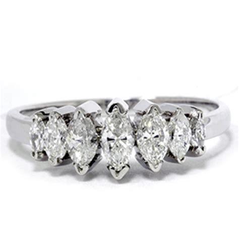 14k white gold 3 4ct marquise anniversary ring