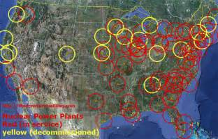 nuclear fallout map canada u s nuclear power plants safe distance modern