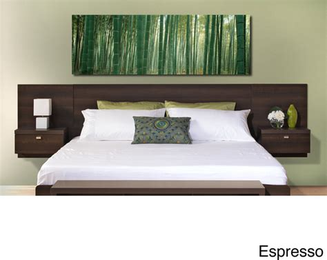 contemporary headboards valhalla designer series floating king headboard with integrated nightstands contemporary