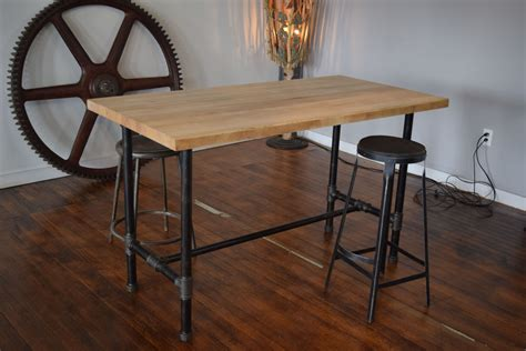 crafted reclaimed maple butcher block kitchen island