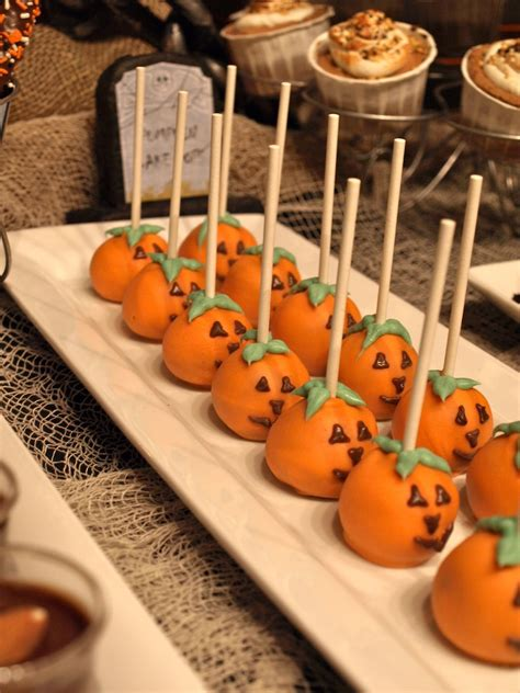 a party style halloween dessert table