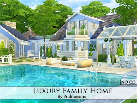 4 family homes pralinesims luxury family home