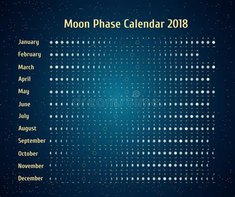 2018 daily diary gogh the starry january 2018 december 2018 lined one page per day journal books vector astrological calendar for 2018 moon phase calendar