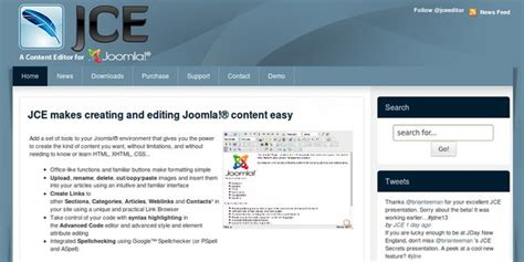 joomla design editor killer joomla components and their features