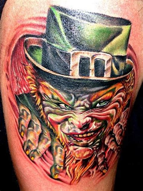 leprechaun tattoos 24 scary leprechaun tattoos that ll freak you out
