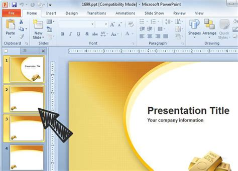 append two powerpoint presentations into one single ppt