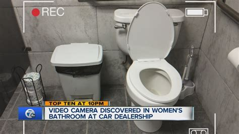 hidden camera in boys bathroom camera found in women s bathroom at car dealership youtube