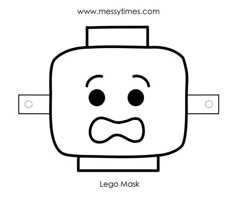 Lego Mask Printable Template | lego messy times