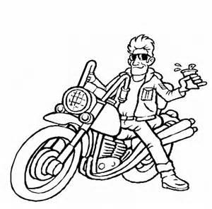dibujos pintar motos az dibujos colorear