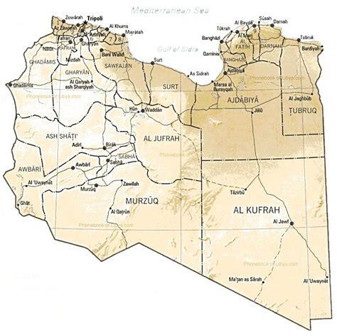 map of libya map of libya by phonebook of libya