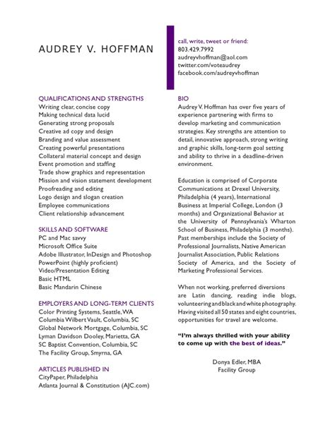 Narrative Resume by Narrative Cv