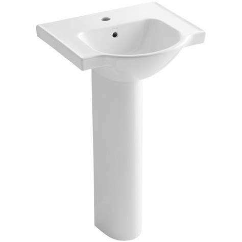 kohler veer pedestal sink kohler veer vitreous china pedestal combo bathroom sink in