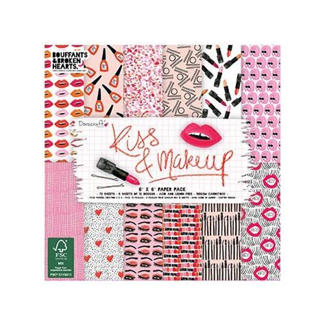 Dove Craft Paper - dovecraft makeup 6x6 inch paper pack dcpap057