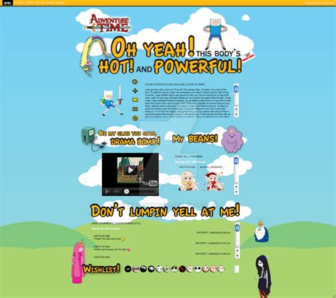 gaiaonline profile layout profile layout gaiaonline adventure time by