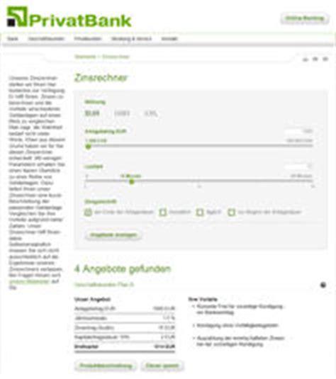 bank zinsrechner privatbank tagesgeld erste einsch 228 tzung