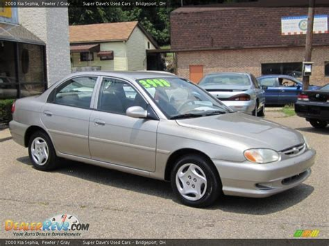 2000 Sephia Kia 2000 Kia Sephia Pewter Gray Photo 3 Dealerrevs