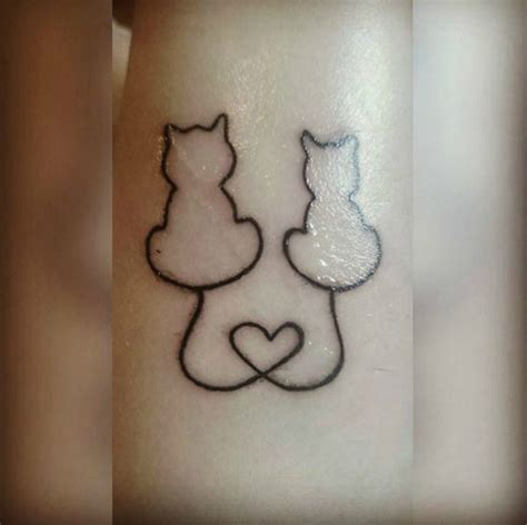 tattoo hashtags copy and paste image result for matching cat tattoos with heart tails