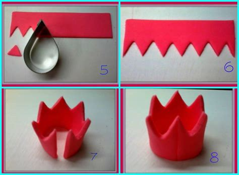How To Make A Princess Tiara Out Of Paper - best 25 fondant crown ideas on fondant