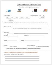 One Time Credit Card Authorization Form Template by Authorization Forms 150 Free Sle Exle Format