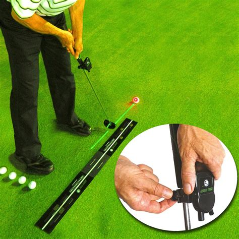 laser golf swing trainer laser putt golf putting trainer at intheholegolf com