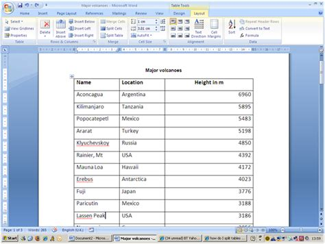 Microsoft Word Splitting A Table Ifonlyidknownthat Microsoft Word Table Templates