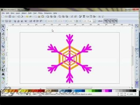 tutorials for inkscape on youtube byteweiser inkscape tutorial 7 snowflakes and fireflakes