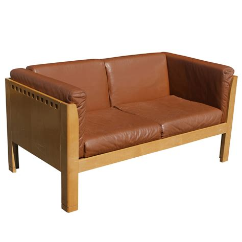 contemporary settees contemporary arts crafts style metro leather settee ebay