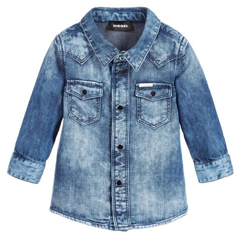 Boy Denim Shirt diesel baby boys blue denim shirt childrensalon