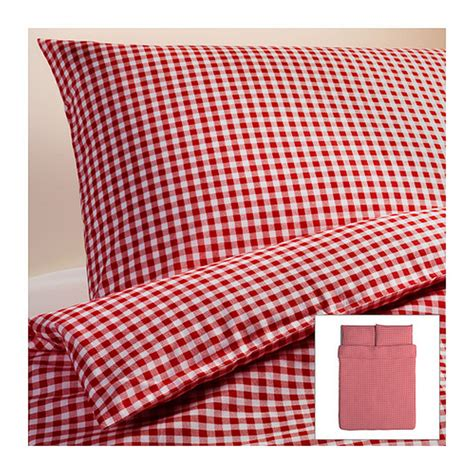 ikea red and white bedding ikea liamaria duvet cover pillowcases set checked gingham