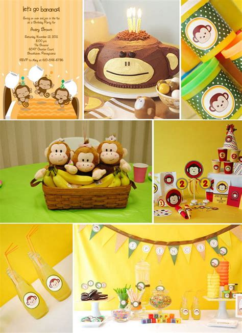 monkey theme decorations cool birthday ideas for boys