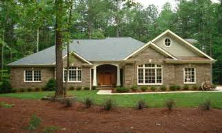 Country Style Ranch House Plans Kitchen Brick Country Style Brick Homes Brick Home Ranch