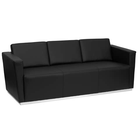 black leather office couch btod trinity series commercial office couch