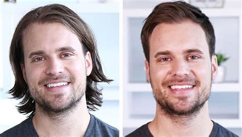 long hair to short hair men before and after man bun be gone long vs short hair pros and cons
