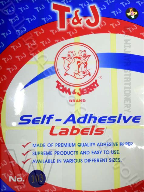Label Polos Tom Jerry No 120 Isi 10 Sheet Pcs jual jual label tom jerry self adhesive labels no 103