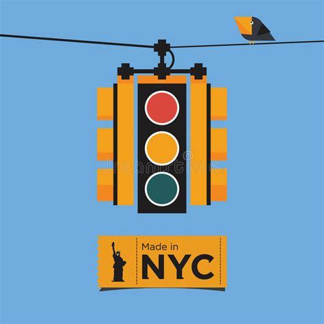 icon design nyc flat icon design of traffic light new york vect stock