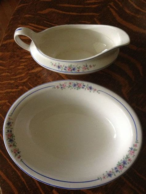 gravy boat saying canonsburg pottery china gravy boat and oval serving bowl