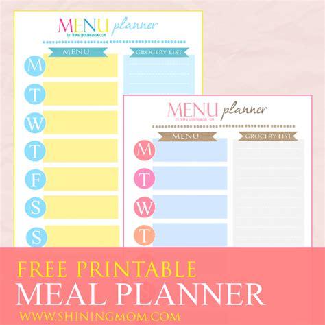 printable planner cover freebie monday weekly meal planner