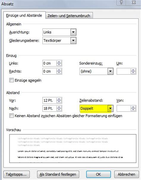 Lebenslauf Formatvorlage Word 2010 Word 2010 Zeilenabstand 228 Ndern Und Einstellen