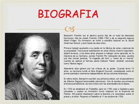 biography of benjamin franklin resumen benjamin franklin