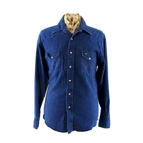 Crows Denim Blue Denim Style wrangler blue denim shirt blue 17 vintage fashion