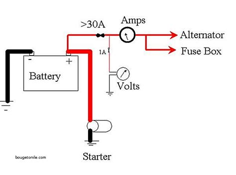 ammeter wiring diagram ammeter wiring diagram for 1 wire