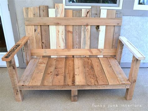 how to make a sofa out of pallets pallet wood outdoor sofa reveal funky junk