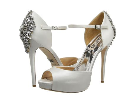 white satin high heels badgley mischka kindra white satin shoes post