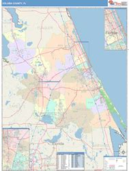 zip code map volusia county volusia county fl wall map color cast style by marketmaps