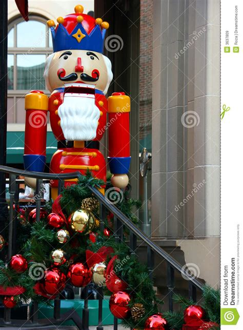 christmas decorations and nutcracker royalty free stock