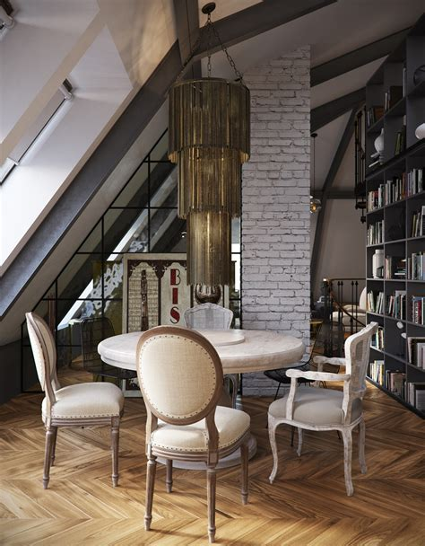 loft appartment three dark colored loft apartments with exposed brick walls