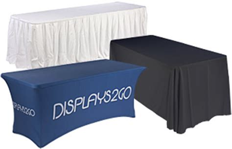 table drapes for trade shows tabletop exhibit displays portable display boards graphics