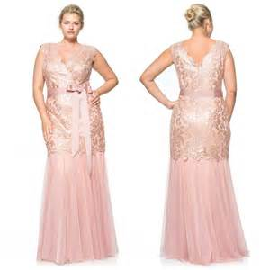 blush plus size 2015 mermaid mother of the bride dresses with sheer v neck short sleeve lace