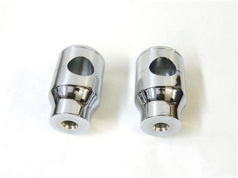 1 Chrome Billet Handlebar Riser For Harley chrome billet 2 quot inch smooth top handlebar risers pair for