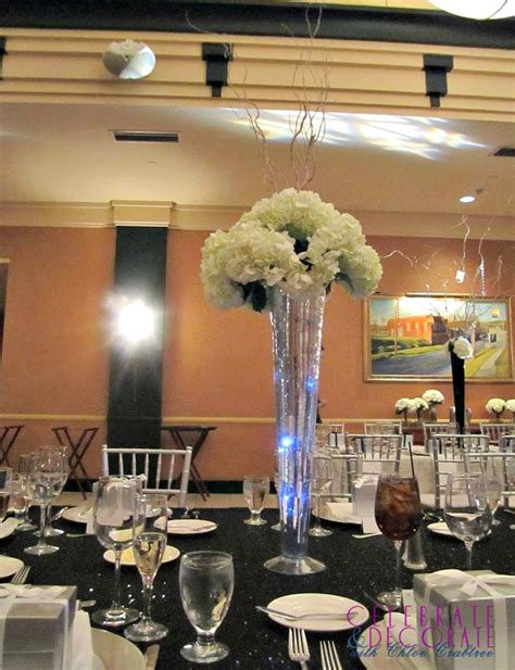 black and silver wedding centerpieces silver and white winter wedding celebrate decorate